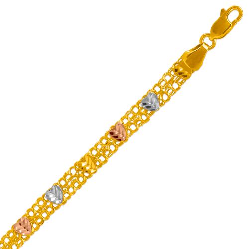 227-411-021 Ladies Double Link Bracelet