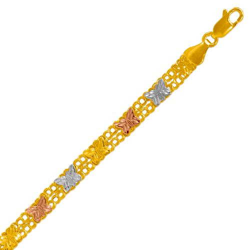 227-411-022 Ladies Double Link Bracelet