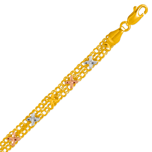 227-411-035 Ladies Double Link Bracelet