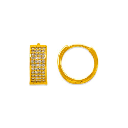 243-202 Huggie CZ Earrings
