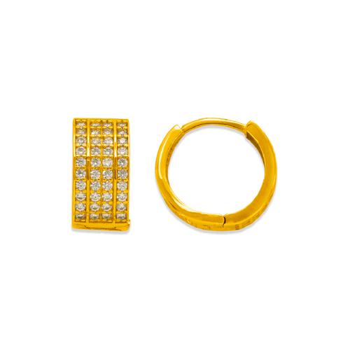 243-203 Huggie CZ Earrings