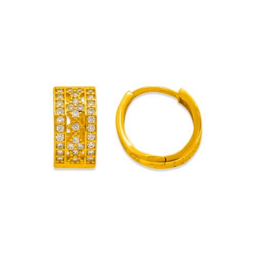 243-204 Huggie CZ Earrings