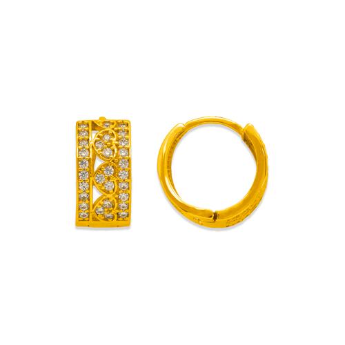243-205 Huggie CZ Earrings