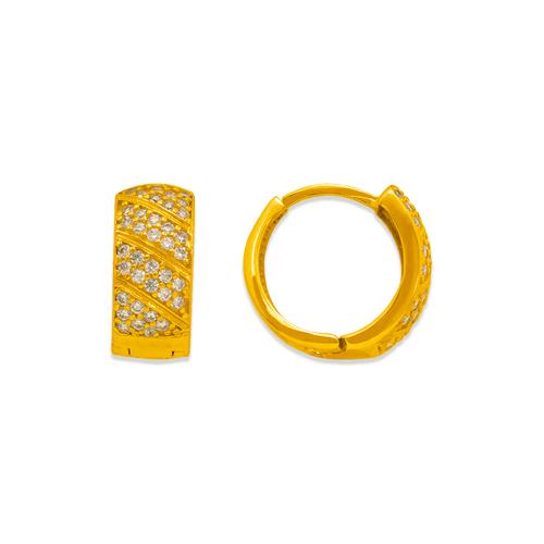 243-207 Huggie CZ Earrings