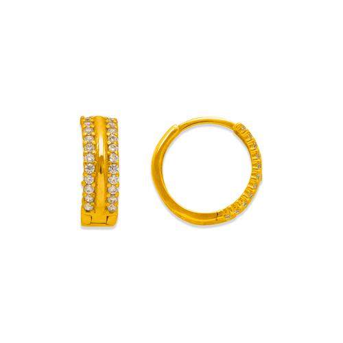 243-209 Huggie CZ Earrings