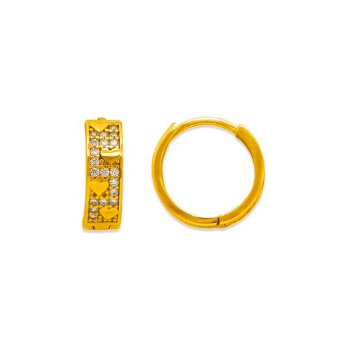 243-213 Huggie CZ Earrings