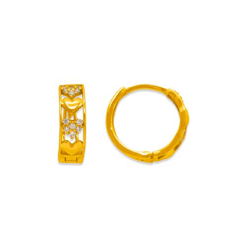 243-214 Huggie CZ Earrings