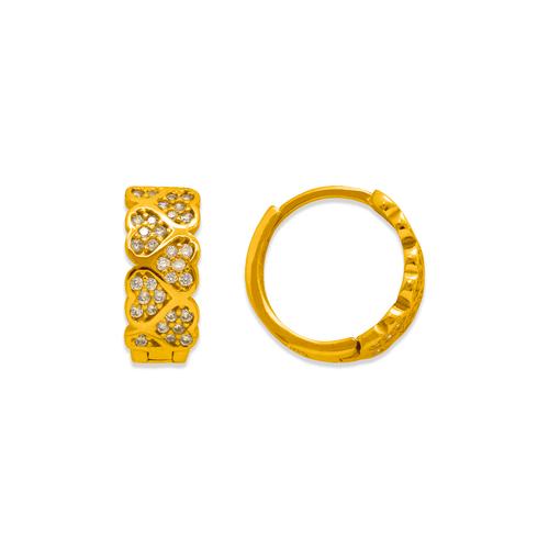243-216 Huggie CZ Earrings