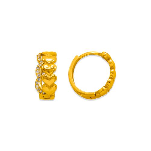 243-217 Huggie CZ Earrings