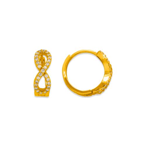 243-218 Huggie CZ Earrings