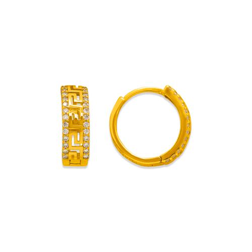 243-219 Huggie CZ Earrings