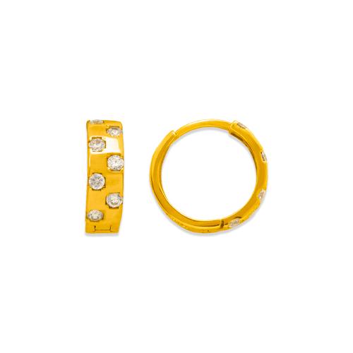 243-220 Huggie CZ Earrings