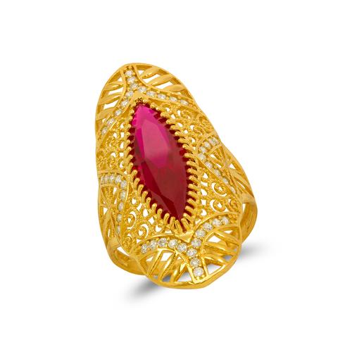 273-409 High Polished CZ Filigree Ring