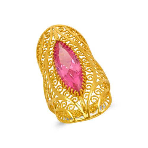 273-410 High Polished CZ Filigree Ring