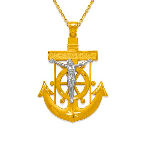 568-084Z 48mm Jesus Anchor Pendant