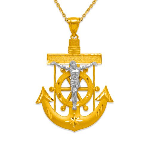 568-085Z 57mm Jesus Anchor Pendant