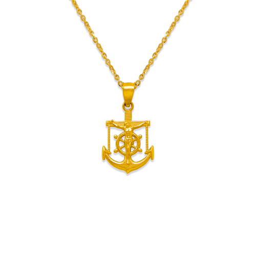 568-092 17mm Jesus Anchor Pendant