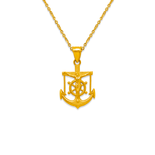568-093 21mm Jesus Anchor Pendant