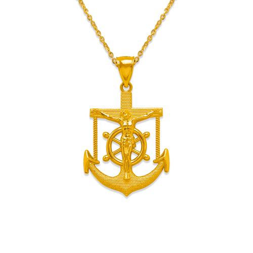 568-095 34mm Jesus Anchor Pendant