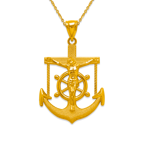 568-096 48mm Jesus Anchor Pendant