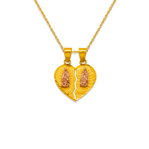 568-301 16mm Two-Piece Guadalupe Heart Pendant