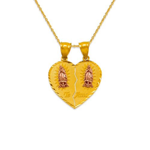 568-303 25mm Two-Piece Guadalupe Heart Pendant