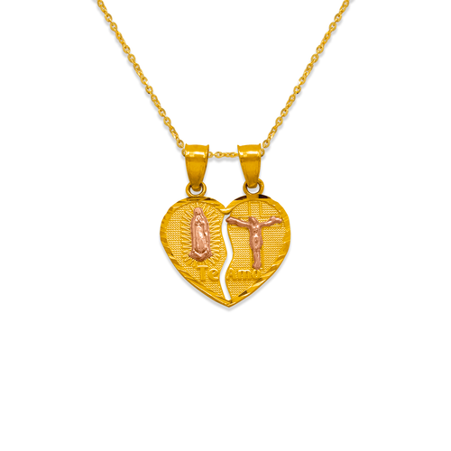 568-304 16mm Two-Piece Guadalupe/Jesus Pendant