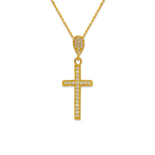 263-108 Fancy Cross CZ Pendant