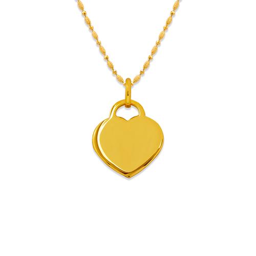 161-302 High Polished Heart Pendant