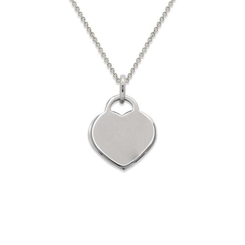 161-302W High Polished Heart Pendant