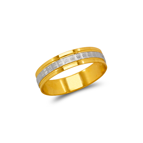 879-002Z Two Tone D/C Wedding Band