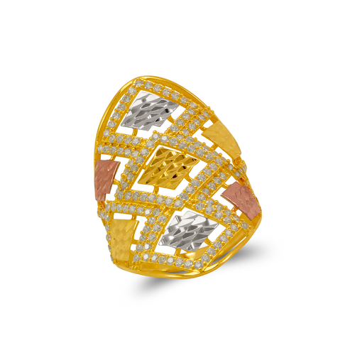 273-603 Mosaic CZ Ring