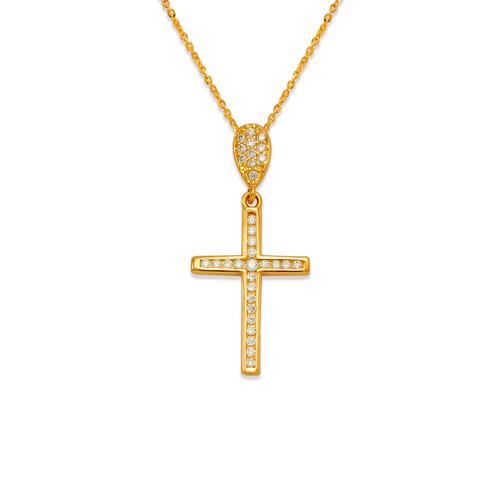 263-109 Fancy Cross CZ Pendant