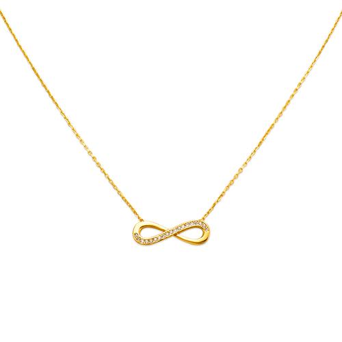 253-014 Fancy Infinity CZ Necklace
