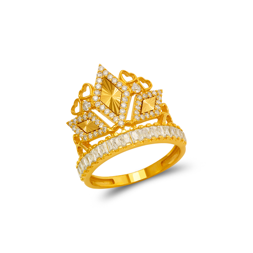 273-656 Fancy Tiara CZ Ring