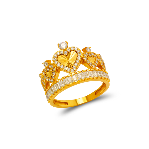 273-657 Fancy Tiara CZ Ring
