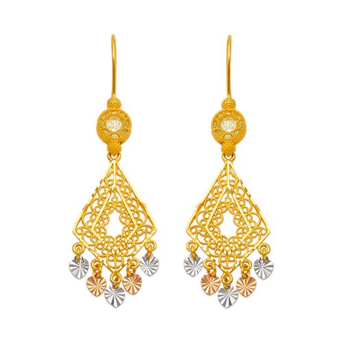 242-008T D/C Chandelier Earrings