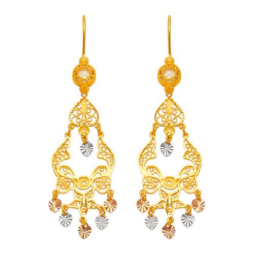 242-012T D/C Chandelier Earrings