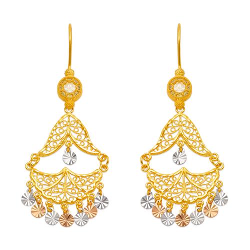 242-013T D/C Chandelier Earrings