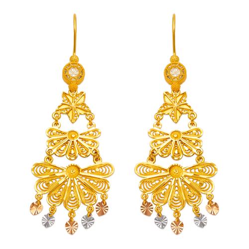 242-014T D/C Chandelier Earrings