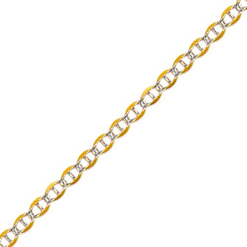 132-405ZS Gucci Light White Pave Chain