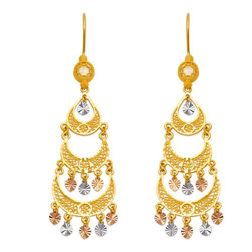 242-016T D/C Chandelier Earrings