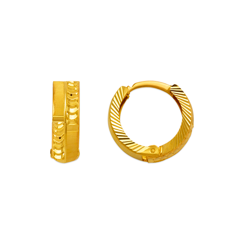 748-004C D/C Huggie Earrings