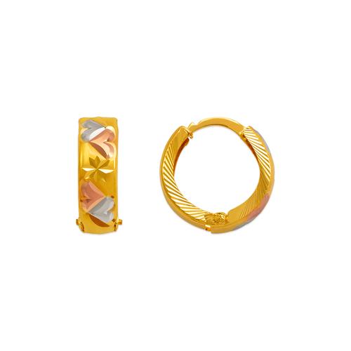 748-005C D/C Huggie Earrings