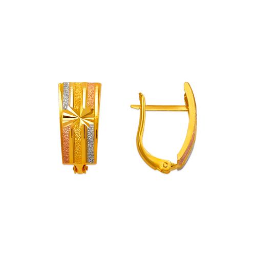 748-011A D/C Huggie Earrings