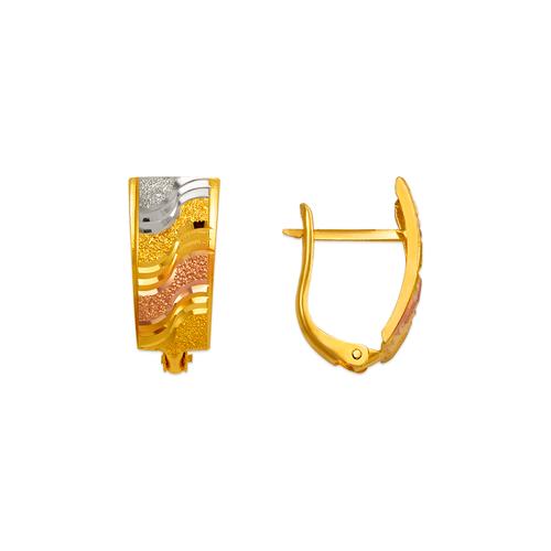 748-011B D/C Huggie Earrings