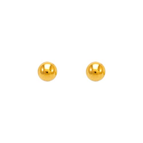 343-003 4mm Ball Stud Earrings