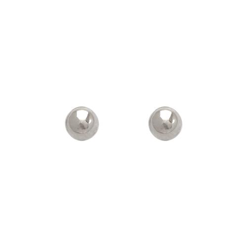 343-003W 4mm Ball Stud Earrings
