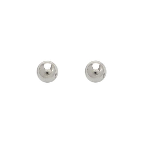 343-004W 5mm Ball Stud Earrings