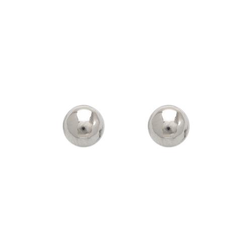 343-005W 6mm Ball Stud Earrings